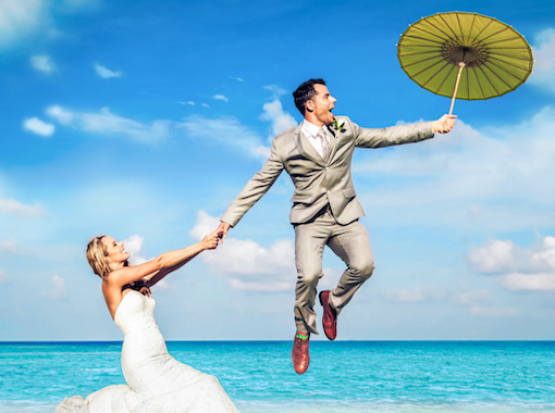 Float away on your wedding day