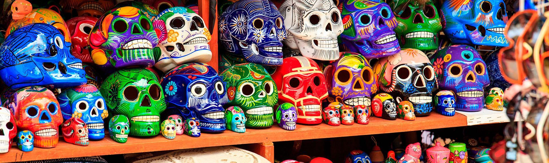 Mexican Handcrafted ceramis skulls