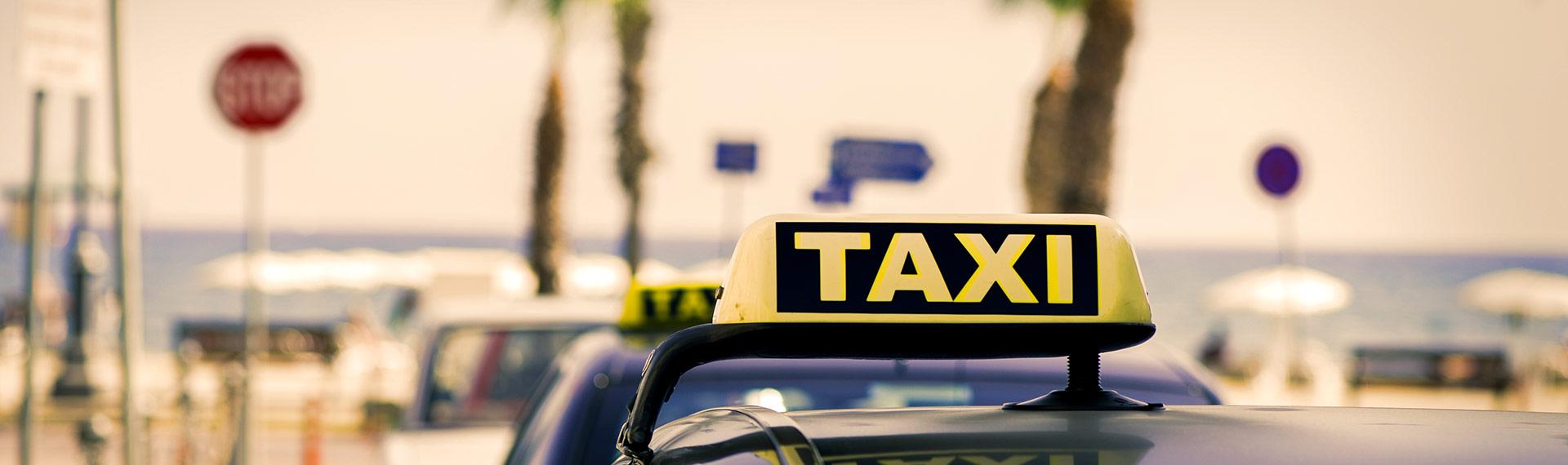 Taxi in the beautiful Cancun