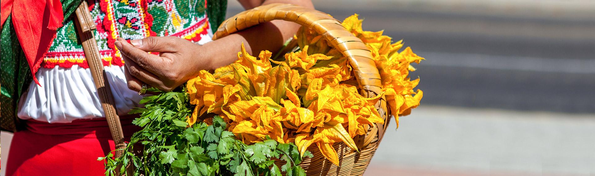 Typical Mexican celebration basket on Saint Patrick's Day