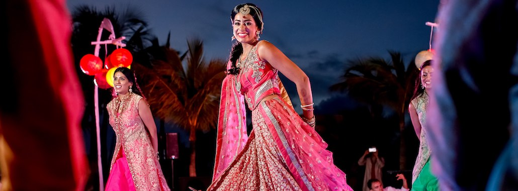 Celebration and typical dances in Indian wedding