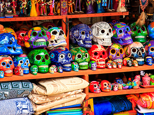 Mexican Handcrafted ceramis skulls shops