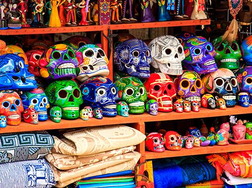 Mexican Handcrafted ceramis skulls shops